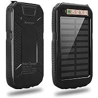 Xnuoyo 10000mAh Solar Charger Waterproof Dual USB Solar Power Bank Portable Charger