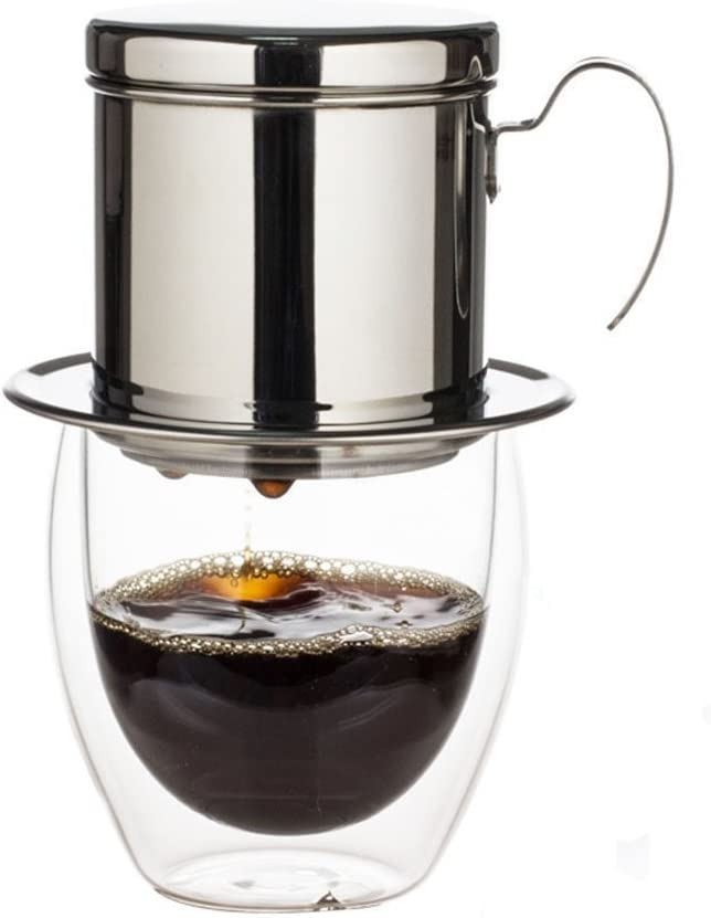 Filtro de café vietnamita con taza, acero inoxidable SUS304 ...