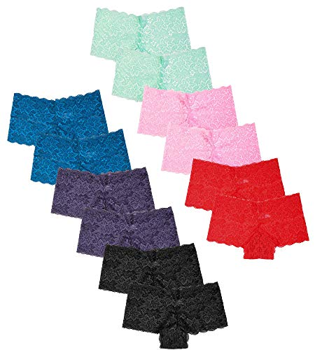 Women's Premium Lace Hipster Panty (12 Pack) (X-Large, Assorted)