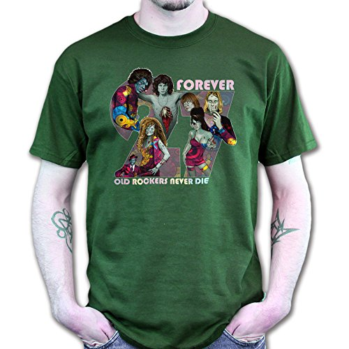 Mens 27 Club Zombies Halloween T shirt XL Forest ()