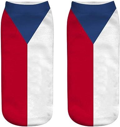 YWLINK Trabajo Casual Bandera Nacional 3D Cute Print Medias Deportivas Medias Mujer Unisex Calcetines Medianos Transpirable Comodo Calcetines Deportivos: Amazon.es: Ropa y accesorios