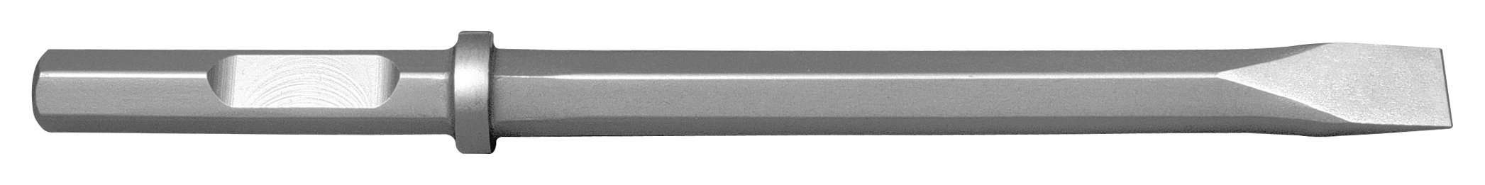 Champion Chisel, 1-1/8 by 6-Inch Hex Shank w/notch, 18-Inch Long Narrow Chisel - Designed for 60lb & 90lb Pneumatic Hammers