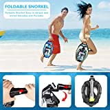 ZIPOUTE Snorkel Mask Full Face, Foldable Full Face