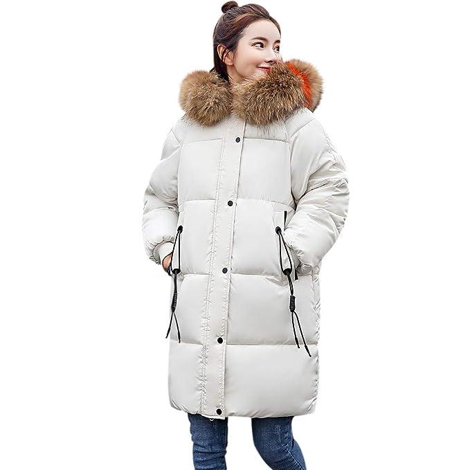 Linlink Abrigos Mujer Invierno Elegantes sólido más Grueso Invierno Delgado cálido Lammy Anillo cálida de Pelo de la Chaqueta de Pelo Cuello Abrigo: ...