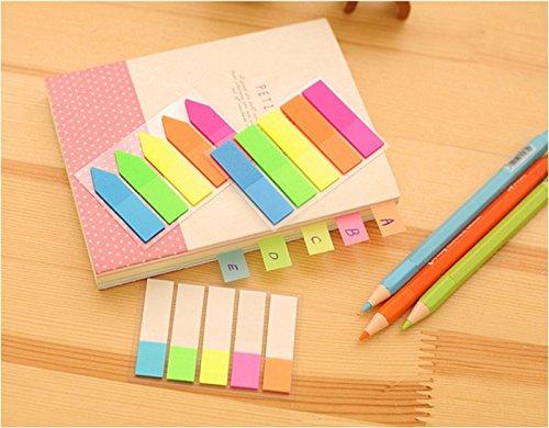 Oyfel Notes Memo adesive autoadesive Bloc-Notes Fluorescenza Colore 5/PCS