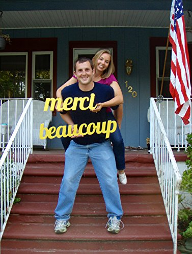 Merci Beaucoup French Thank You Sign Wedding Photo Prop