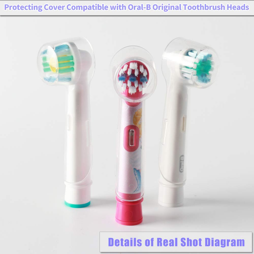 4Pcs Travel Electric Toothbrush Head Protective Cover Case Cap Storage 6*2*2cm
