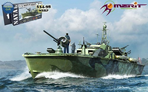 MRT64801 1:48 Merit US Navy Elco 80' Motor Patrol Torpedo Boat Late Type [MODEL BUILDING KIT] by Merit International