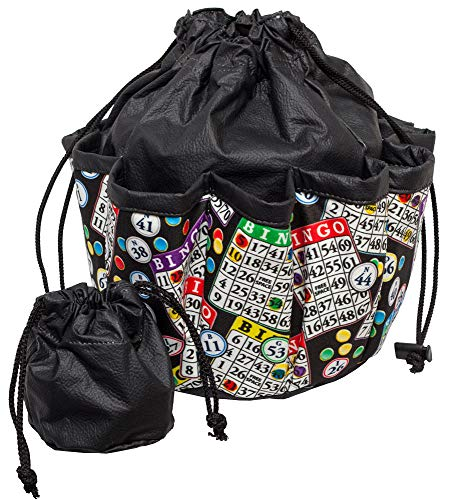 ABS Novelties Bingo Pattern 10 Pocket Tote (Black)