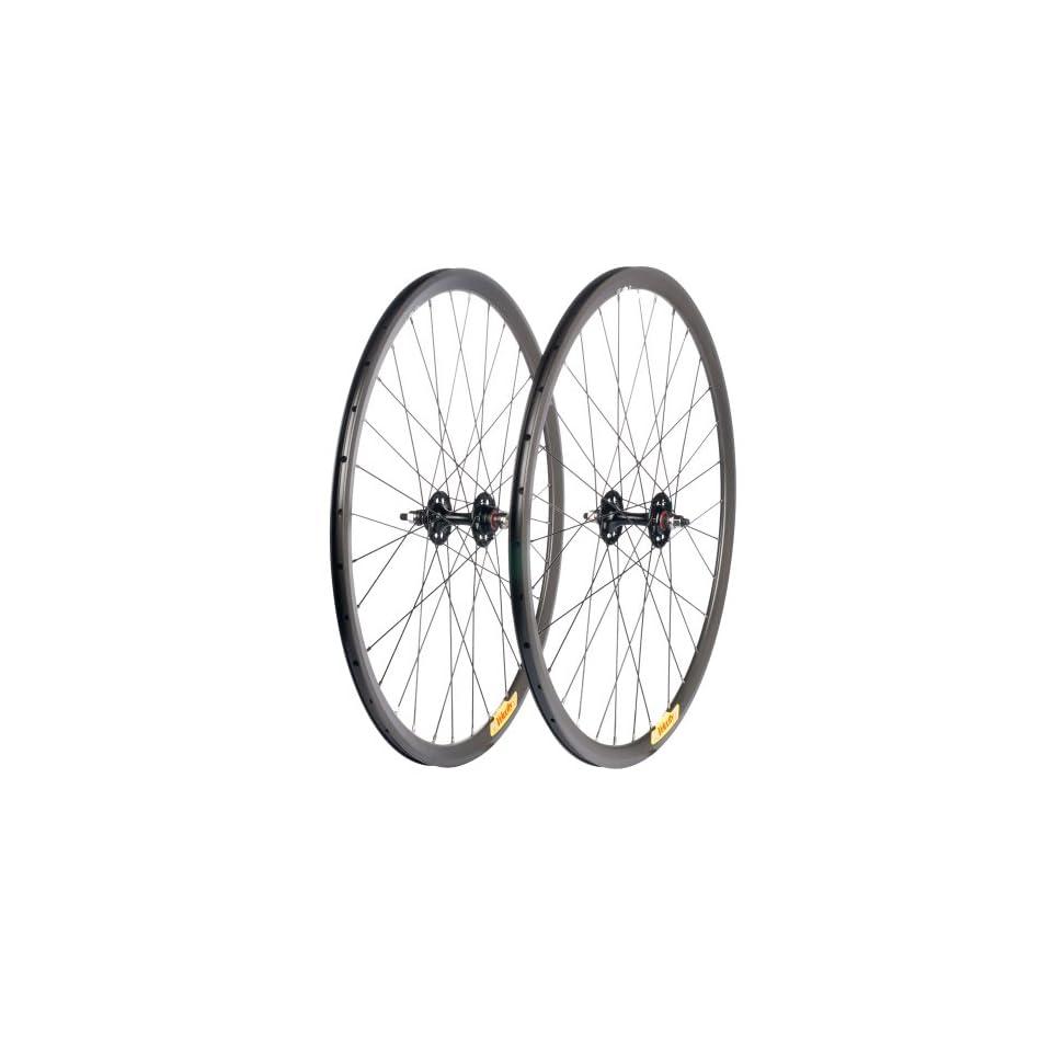 Velocity Deep V Road Wheel Set   700c Rim, Redline Hub, Black/Reflective