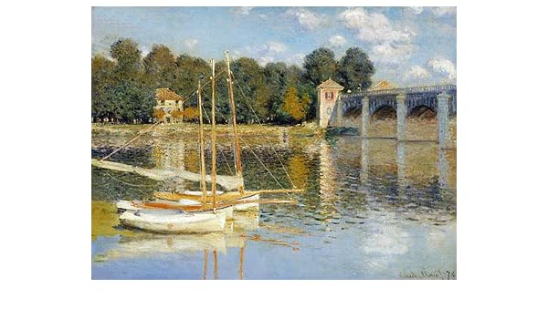 The Bridge at Argenteuil by Claude Monet Giclee Print Repro on Canvas