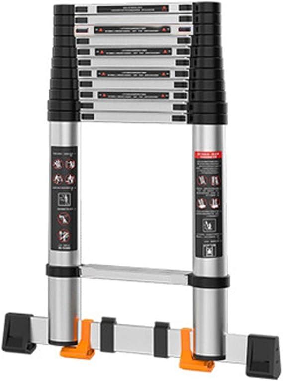 Escalera De Extensión Multifunción Escalera De Extensión Plegable De Escalera De Altillo De Aluminio Ligero Pequeño Derrape Portátil Extensión Para Escalera Portátil (Color : H , tamaño : 2.5M) : Amazon.es: Hogar
