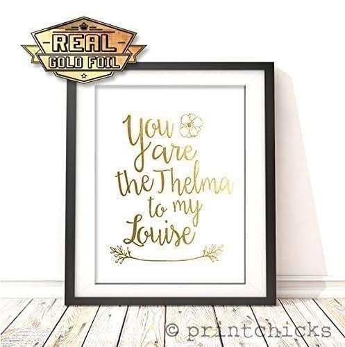 friendship gold foil print 8x10 you are the. Black Bedroom Furniture Sets. Home Design Ideas