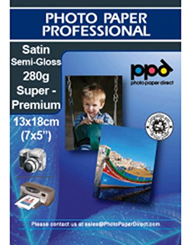 PPD 13X18 (7x5) A getto d'inchiostro carta fotografica semilucida Super Premium 280 G/M² - 500 fogli Photo Paper Direct