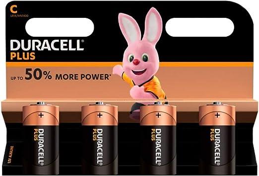 Duracell Plus Mn1400 Alkaline C Batteries 4 Pack Elektronik