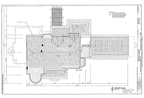 Photo: Roof Plan - Fair Lane Mansion,4901 Evergreen Road,Dearborn,Wayne - In Dearborn Stores Mi