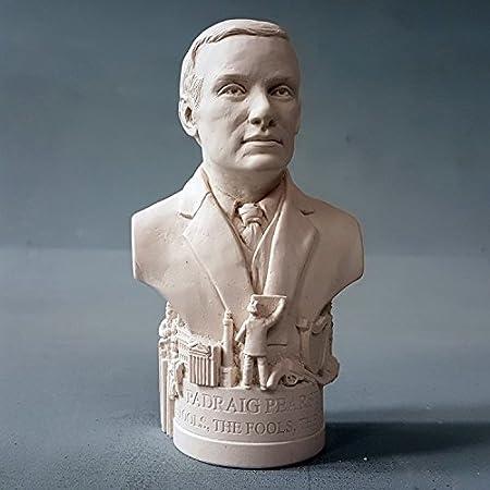 Busti di volti famosi, statue in gesso fatte in Inghilterra. Pádraig Pearse Premium Sculptures