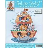 quilt cross stitch kits - Tobin Noah's Ark Quilt Stamped Cross Stitch Kit, 34 by 43-Inch
