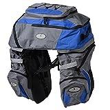 eDealMax Sedile poliestere bici posteriore impermeabile Triple Sella Della bicicletta del sacchetto blu w Raincoat