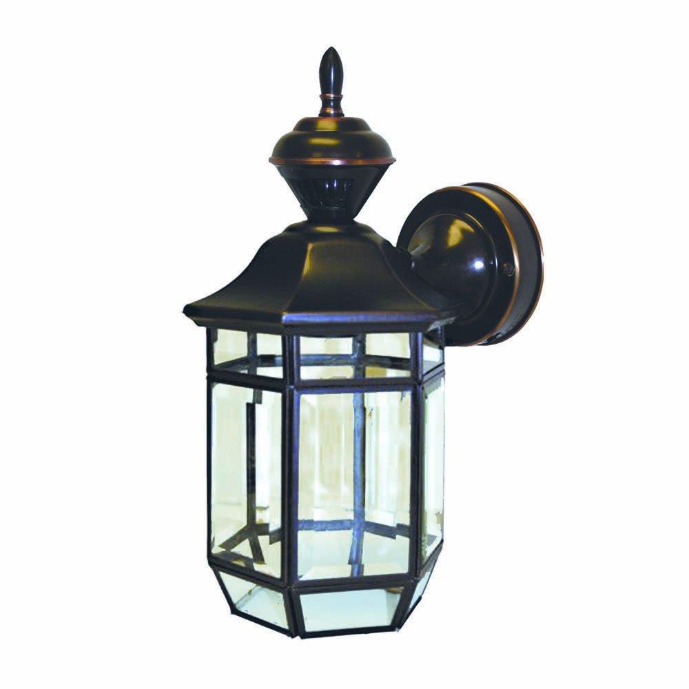 Heath/Zenith SL-4175-AC-A 150-Degree Motion-Activated Lexington Style Decorative Lantern, Antique Copper