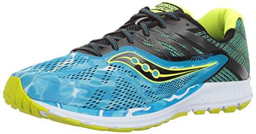 Saucony Men's Ride 10 Running Shoe, Blue, 7 M US