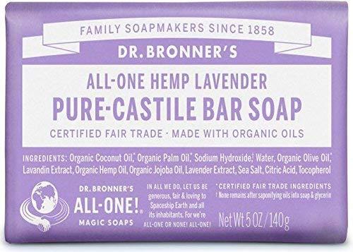 Dr. Bronner's Pure-Castile Bar Soap - Lavender (5 Oz)