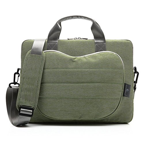 LYCSIX66 Stylish 13.3 Inch Laptop Carry Case Bag w/Shoulder Strap 12.9'' iPad Pro / 13'' MacBook Air Pro/Ultrabook - Green ()