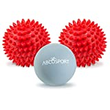 Massage Ball Set (Lacrosse & Hard Spiky Combo) - Best Use for Feet, Hands, Back, Neck, & Entire Body - Reliefs Pain - Exercise Tool, Yoga Premium Balls - Physical Therapy - Includes a FREE Carry Bag. (2 Hard Spiky & 1 Lacrosse Ball)