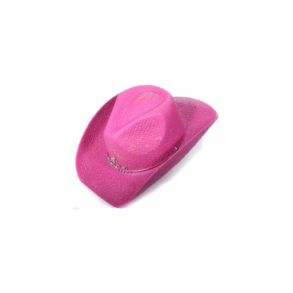 Peter Grimm Bright Pink Bling Tiara Girls Cowboy Hat   Kids Clothing