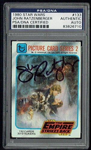 John Ratzenberger signed autograph 1980 Topps Star Wars ESB Card PSA (1980 Topps Card Photo)