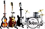 The Beatles Fab Four Miniature Guitar and Drums Set of 4 Cool