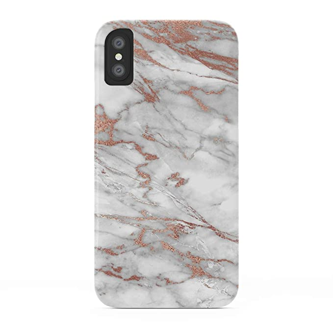 brand new 6eef8 dca7a Amazon.com: Society6 iPhone X Cases, Featuring Marble and Rose Gold ...