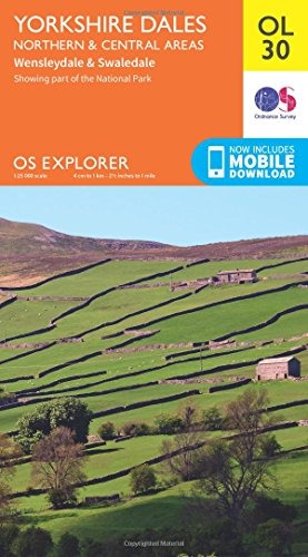 Yorkshire Dales Northern & Central (OS Explorer Map)