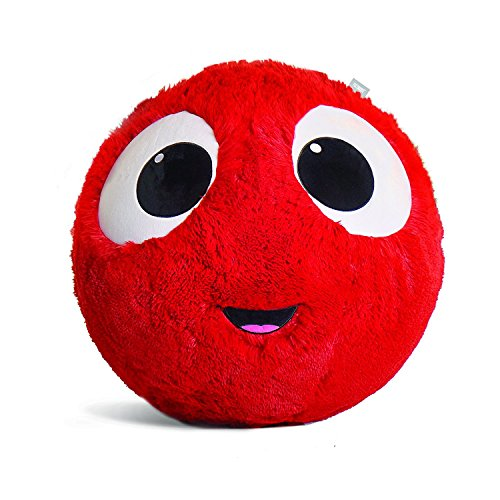 Fuzzbudds Inflatable Plush Bouncy Balls for Kids, Red, Medium 55cm