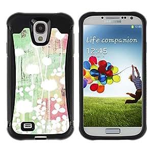 Suave TPU GEL Carcasa Funda Silicona Blando Estuche Caso de protección (para) Samsung Galaxy S4 IV I9500 / CECELL Phone case / / Art Light Bright Minimalist Green /