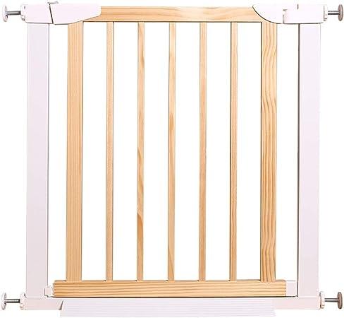 Barreras de puerta Barras de seguridad Barras for bebés Escalera de protección Cerca de aislamiento for mascotas Registro de cerca Extensión blanca (Color : Natural , Size : 89-96cm) : Amazon.es: Hogar
