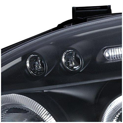 Spec-D Tuning 2LHP-CV96JM-TM Honda Civic Dual Halo Led Black Projector Headlights