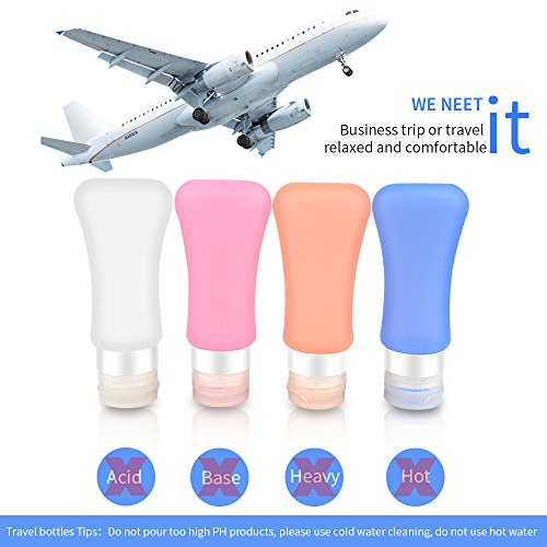 Airsspu-Leakproof-Travel-Bottles-Set-TSA-Approved-Leakproof-and-Squeezable-Silicone-Travel-Containers-and-Protable-Clear-Travel-Bag-For-Shampoo-Conditioner-Lotion