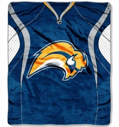 The Northwest Company Officially Licensed NCAA Buffalo Sabres Jersey Plush Raschel Throw Blanket, 50
