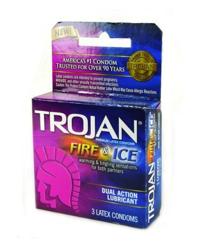 TROJAN FIRE & ICE CONDOMS DUAL ACTION LUBRICANT 18 PACK