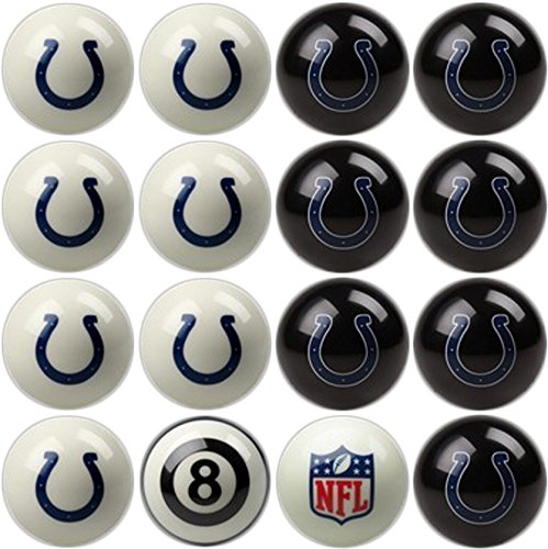 Imperial Officially Licensed NFL Merchandise: Home vs. Away Billiard/Pool Balls, Complete 16 Ball Set, Indianapolis ()