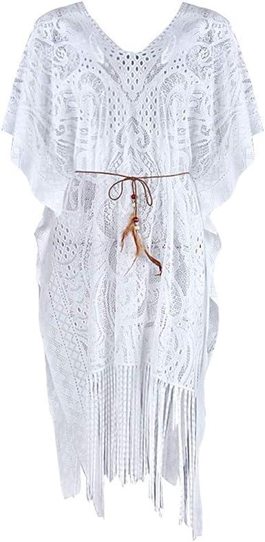 Vectry Camisa De Encaje para Mujer Playa Bordada Protector Solar Ropa Cardigan Elegante Blusa Casual 2019 Nueva Blusa