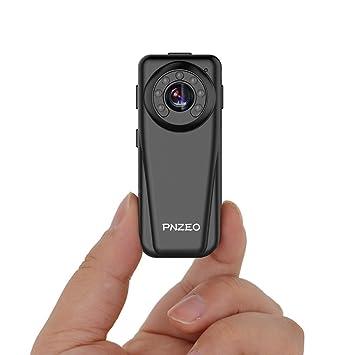 PINZE F5 Mini espía cámara 1920 x 1080P Full HD cámara de infrarrojos de visión nocturna ...