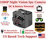 1080p FULL HD RESOLUTION PINHOLE SPY CAMERA with Motion Detection, 100mins ...