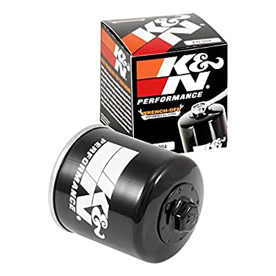 K&N Motorcycle Oil Filter: High Performance Black Oil Filter with 17mm nut designed to be used with synthetic or conventional oils fits Honda, Kawasaki, Triumph, Yamaha Motorcycles KN-204: Automotive