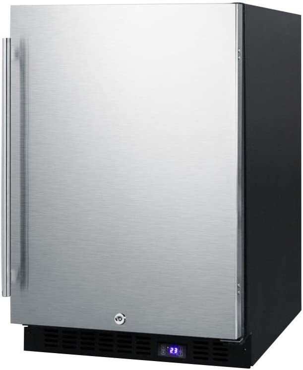 Summit SCFF53BSS Under Counter Upright Freezer Stainless-Steel