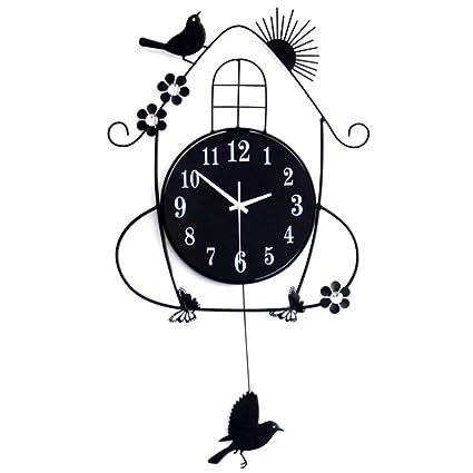 LifeUp- Pendolo con Uccellino cucù, Orologio da Parete Vintage ...