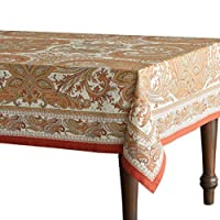 Maison d' Hermine Kashmir Paisley 100% Cotton Tablecloth 54 - inch by 72 - inch. Perfect for Thanksgiving and Christmas