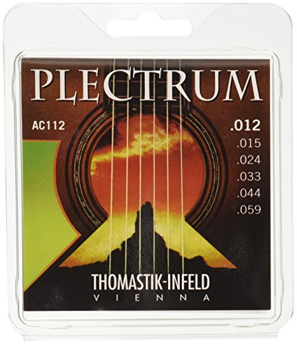 Thomastik-Infeld AC112 Acoustic Guitar Strings: Plectrum Series 6 String Set E, B, G, D, A, E