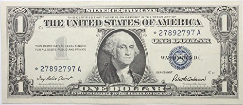 (1957 *STAR* Note Plain Silver Certificate in Very Good Condition)